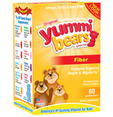 Fiber Supplement 60 Gummies, Yummi Bears, Digestion