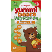 Calcium Vitamin D Vegetarian Gummy, 60 Gummies, Yummi Bears, Bones