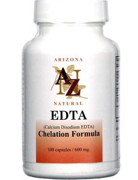 Calcium Disodium EDTA 600mg 100 Caps, Arizona Natural, UK Supplements