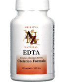 Calcium Disodium EDTA 600mg 100 Caps, Arizona Natural, UK Supplements