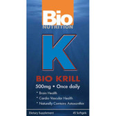 Bio Krill Oil 45 Softgels Bio Nutrition, Immune Support