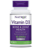 Natrol, Vitamin D3 10,000IU, 60 Tabs