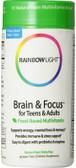 Brain & Focus Multivitamin 90 Tabs, Rainbow Light, UK
