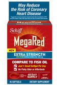Mega Red Extra Strength 500mg Krill Oil 45 Softgels, Megared