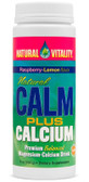Calm Plus Calcium Raspberry Lemon 8 oz, Natural Vitality
