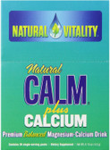 Calm Plus Calcium Regular Flavor 30 Packets, Natural Vitality, UK