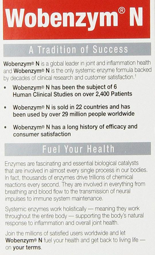 Buy UK Wobenzym N 200 Tabs, Wobenzym N, Inflammation, Joint