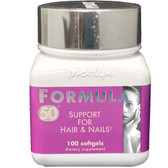 Marlyn Formula 50 100 Softgels, Naturally Vitamins, Hair & Nails