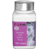Marlyn Formula 50 250 Softgels, Naturally Vitamins, Hair & Nails