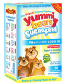 No Sugar Vitamin D3 60 Gummies, Yummi Bears