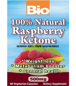 100% Natural Raspberry Ketone 60 VCaps, Bio Nutrition, Weight Loss