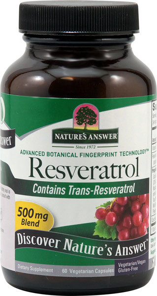 Buy Resveratrol 250 Mg 60 Veggie Caps Nature S Answer Uk