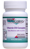 Vitamin D3 Complete Daily Balance w/ A and K2 60 Caps, Nutricology