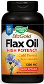 Flax Seed 1300mg 100 Softgels, Nature's Way, Efagold Flax Oil