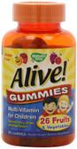 Alive! Children's Multi-Vitamin Gummies 90 Chews, Nature's Way, UK