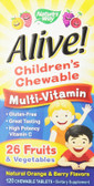 Alive! Children's Multi-Vitamin 120 Chews, Nature's Way, UK