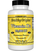 Vitamin D3 10 000 IU 360 Softgels Healthy Origins, Bones