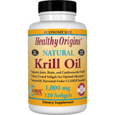 Krill Oil 1000mg 120 Softgels, Healthy Origins