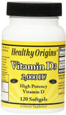Vitamin D3 2000 IU 120 Softgels, Healthy Origins, UK