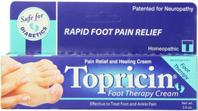 Topricin Foot Therapy Cream 2 oz, Topical Biomedics, Pain Relief, UK