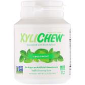 XyliChew Gum Spearmint Jar 60 ct, Xylichew, No Sugar Chewing Gum, UK
