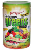 Delicious Greens 8000 Berry Flavor 10.6 oz, Greens World, Superfood