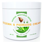 Eczema & Psoriasis Cream with Manuka Honey, Aloe Vera, Shea Butter, Coconut Oil, Hemp Seed Oil, Wild Naturals 4 oz, UK