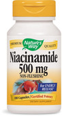 Buy Nature's Way Niacinamide 500 mg 100 Caps Energy Online, UK Delivery, Vitamin B3 Niacinamide
