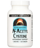 N-Acetyl Cysteine 1000mg 120 Tabs, Source Naturals, UK Shop