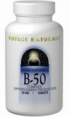 Vitamin B-50 Complex 50 mg 50 Tabs, Source Naturals