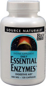 Essential Enzymes 500 mg 120 Caps Source Naturals, Digestive