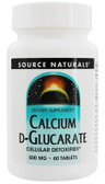 Buy Calcium D-Glucarate 500mg 60 Tabs, Source Naturals, UK Shop