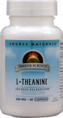 L-Theanine 200 mg, 60 Caps, Source Naturals
