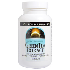 UK Buy Green Tea Extract 500 mg, 120 Tabs, Source Naturals, Antioxidant