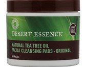 Buy Tea Tree Oil Cleansing Pads 50 pads Desert Essence Online, UK Delivery, Facial Cleansers