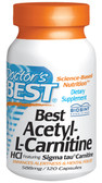 Buy Doctor's Best Acetyl-L-Carnitine 588 mg 120 Caps Memory Online, UK Delivery, Amino Acid