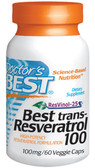 Buy Resveratrol 60 Vegetarian Caps Doctor's Best Online, UK Delivery,