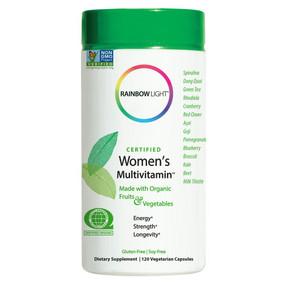 Certified Organic Women's Multi-Vitamin 120 Caps Rainbow Light