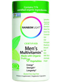 Certified Organic Men's Multi-Vitamin 120 Caps Rainbow Light Vitamins