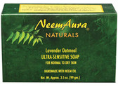 Buy Ultra-Sensitive Soap Lavender/Oatmeal 1 bar Neem Aura Online, UK Delivery, Vegan Cruelty Free Product