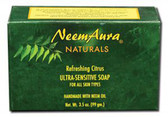 Buy Ultra-Sensitive Soap Refreshing Citrus Neem Aura Online, UK Delivery, Vegan Cruelty Free Product