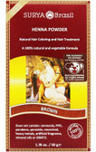 Buy Henna Powder Brown 1.7 oz Surya Brasil Online, UK Delivery, Vegan Cruelty Free Product