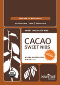 Buy Organic Cacao Nibs Sweetened 4 oz Navitas Naturals Online, UK Delivery, Cacao Chocolate Vegan Food
