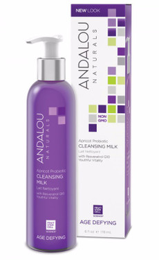 Buy Apricot Probiotic Cleansing Milk 6 oz Andalou Online, UK Delivery, Vegan Cruelty Free Product Anti Aging Skincare