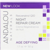 Buy Resveratrol Q10 Night Repair Cream 1.7 oz Andalou Online, UK Delivery, Night Creams Gluten Free Product