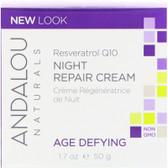 Buy Resveratrol Q10 Night Repair Cream 1.7 oz Andalou Online, UK Delivery, Night Creams Gluten Free Product
