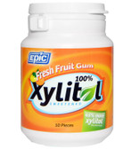 Buy Fresh Fruit Gum Jar 50 PC Epic Xylitol Online, UK Delivery, Oral Care Dental Chewing Gum Mints