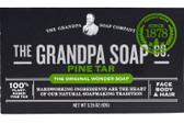 Pine Tar Soap 3.25 oz Grandpa's, Seborrheic Eczema, Dandruff, Psoriasis, UK