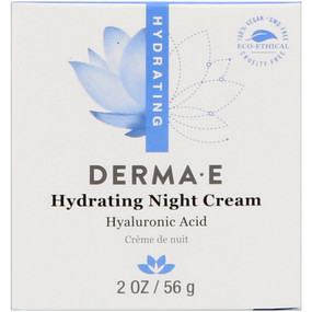 Buy Derma E Hydrating Night Creme with Hyaluronic Acid 2 oz Online, UK Delivery, Night Creams