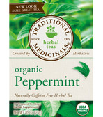 Organic Peppermint Tea 16 Bags Traditional Teas, Upset Stomach